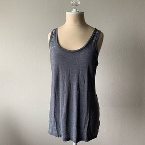 """Vintage"" style gray tank top"